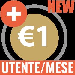 Più un euro utente al mese