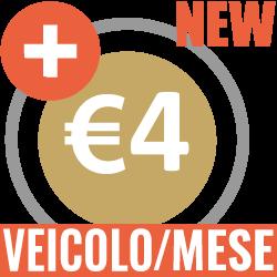 Più 4 euro veicolo al mese
